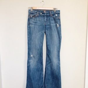 7 For All Mankind Distressed Jeans.
